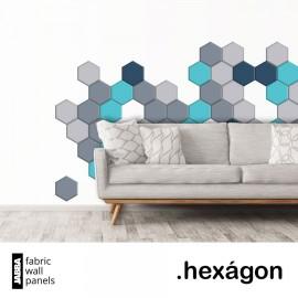 Čalouněné panely Hexágon